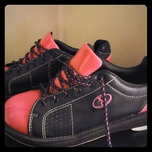 Pink bowling shoes